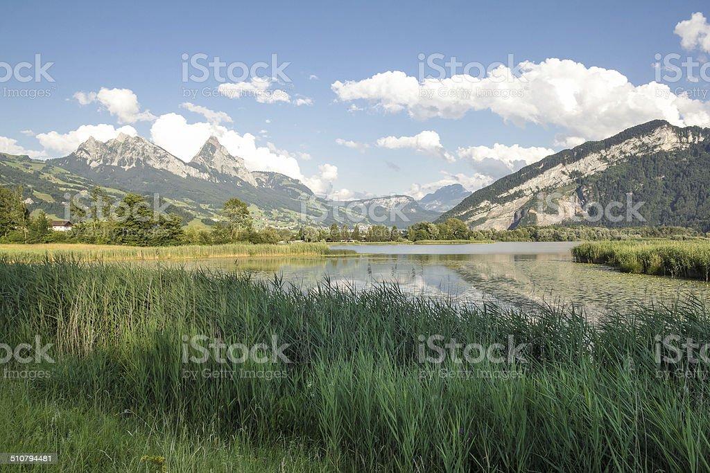 Schwyz lake stock photo