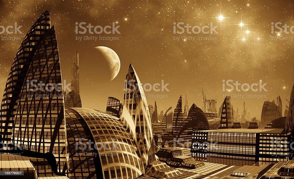 Sci Fi Metropole royalty-free stock photo