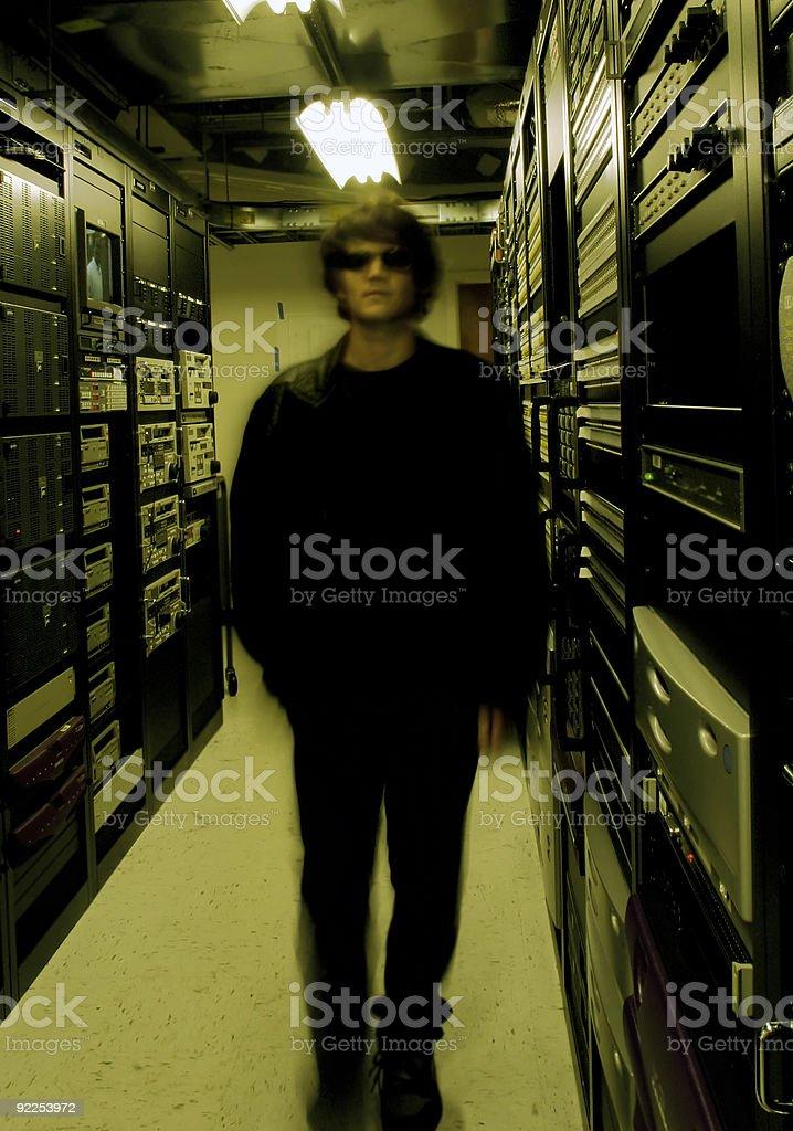 Technicien de science-fiction photo libre de droits
