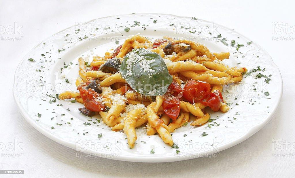 Scialatielli all'Amalfitana Italian pasta recipe royalty-free stock photo