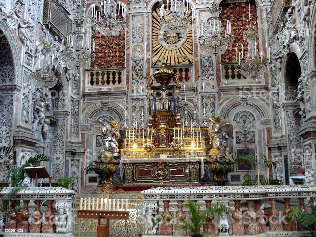 Scicli, baroque style in the church stock photo