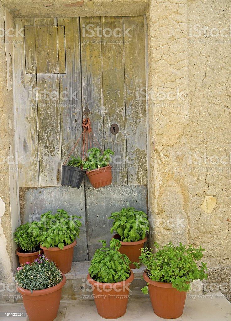 Scicli door royalty-free stock photo