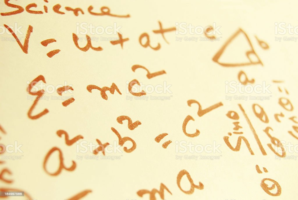 Science and Mathematics stock photo