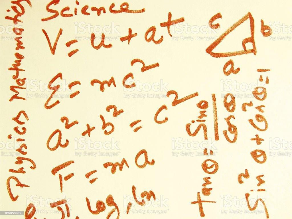 Science and Mathematics royalty-free stock photo