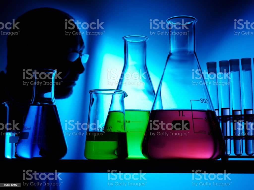 Science and Scentist in a Laboratory royalty-free stock photo
