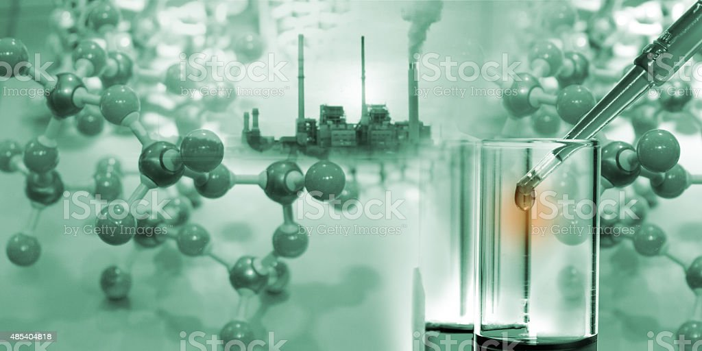 Science background design with object science. vector art illustration