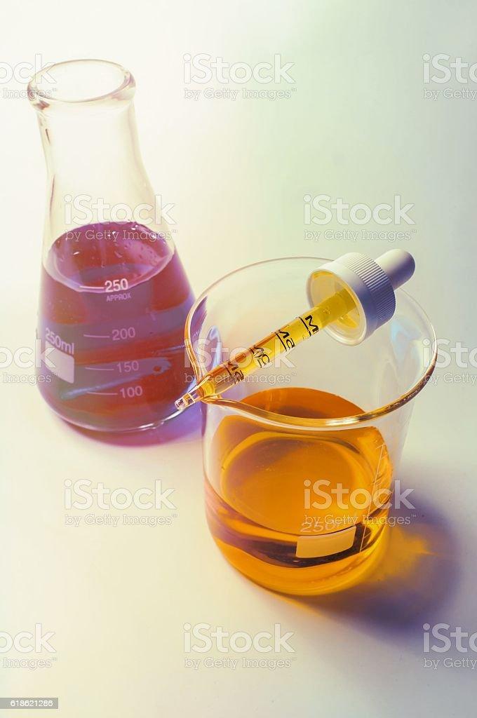 Science Beaker Experiment stock photo