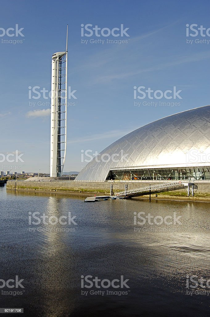 Science Centre and wharf stock photo
