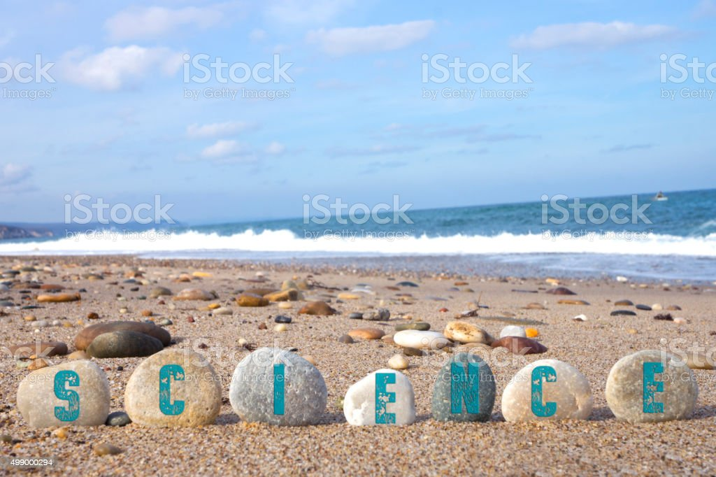 Science Concept with Balanced Stones stock photo