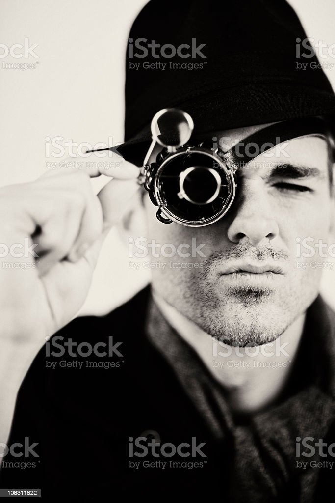 Science Fiction Detective royalty-free stock photo