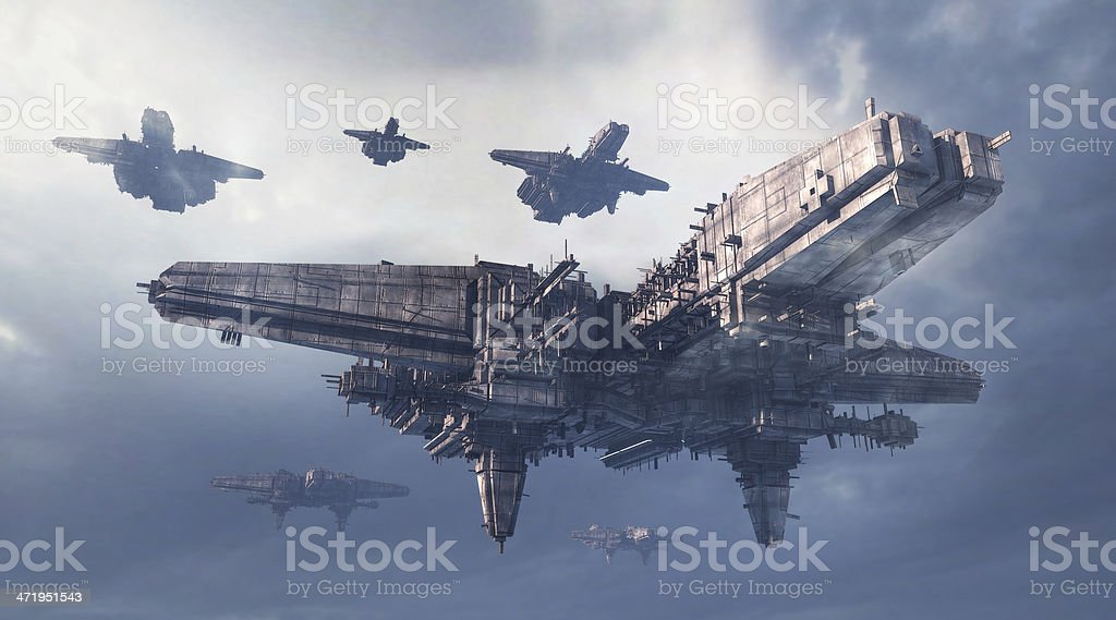 Science Fiction UFO stock photo