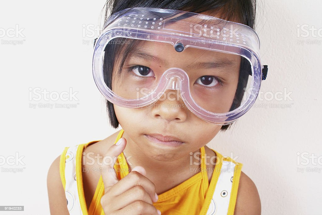 Wissenschaft Mädchen 4 Lizenzfreies stock-foto