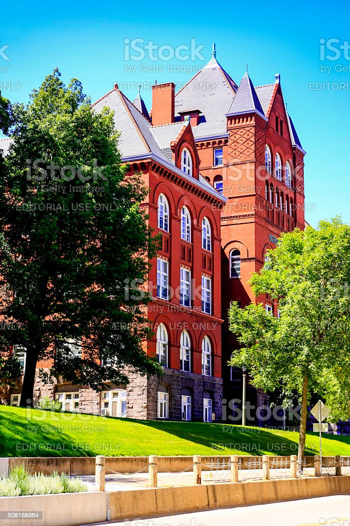 Science Hall of University of Wisconsin in Madison stock photo