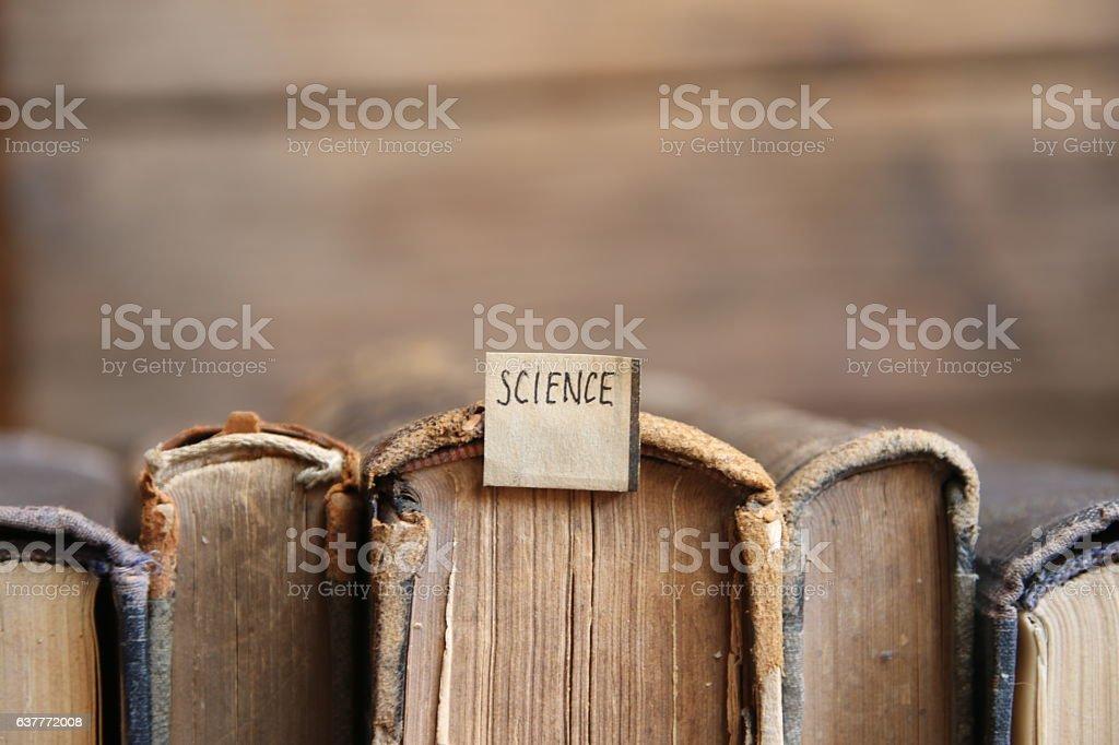 science idea, soft focus, toned stock photo