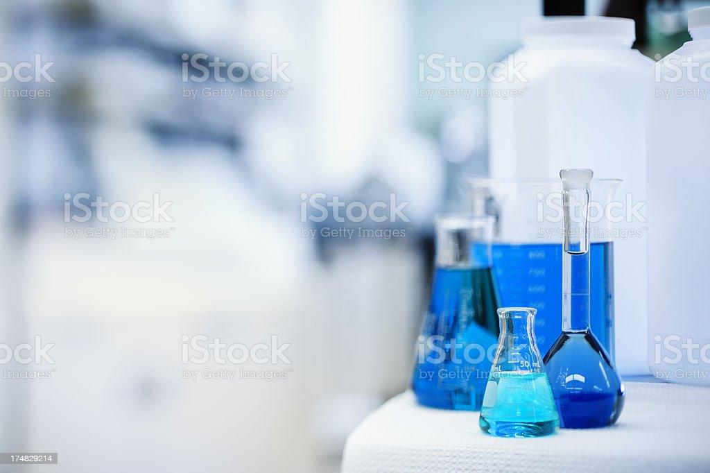 Science Lab Beakers stock photo