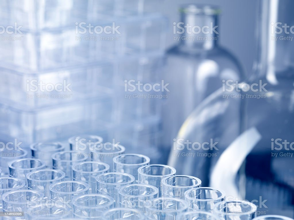 Science laboratory glassware and containers royalty-free stock photo