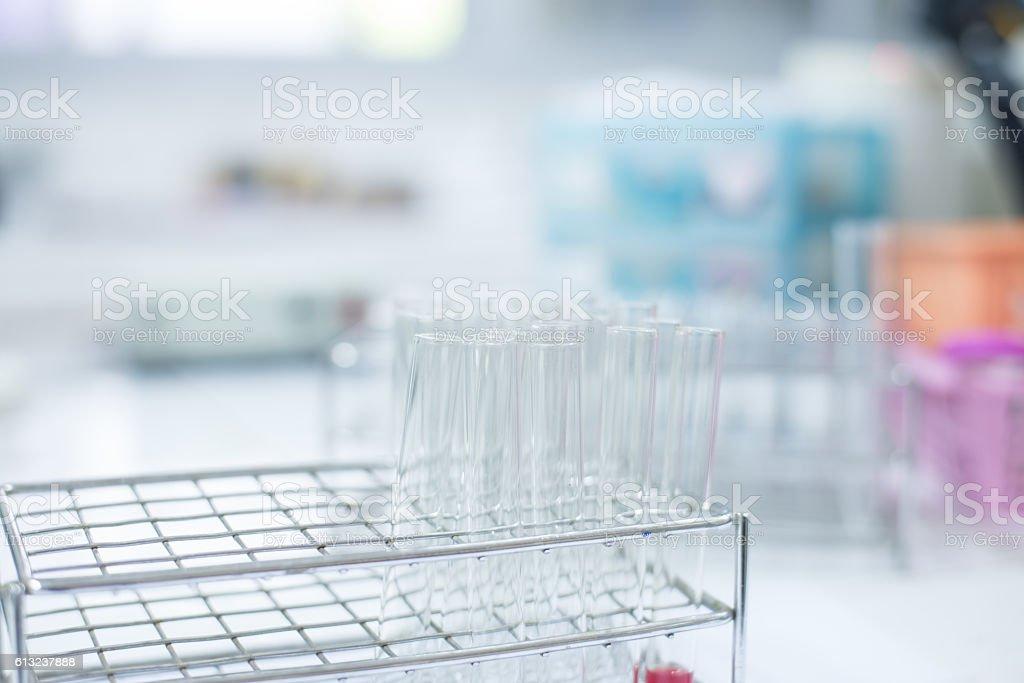 science laboratory test tubes  laboratory equipment. stock photo