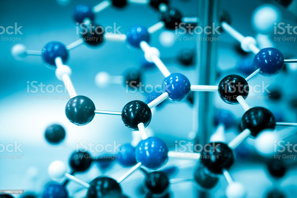 Science Molecular DNA Structure, business communication connection concept stock photo