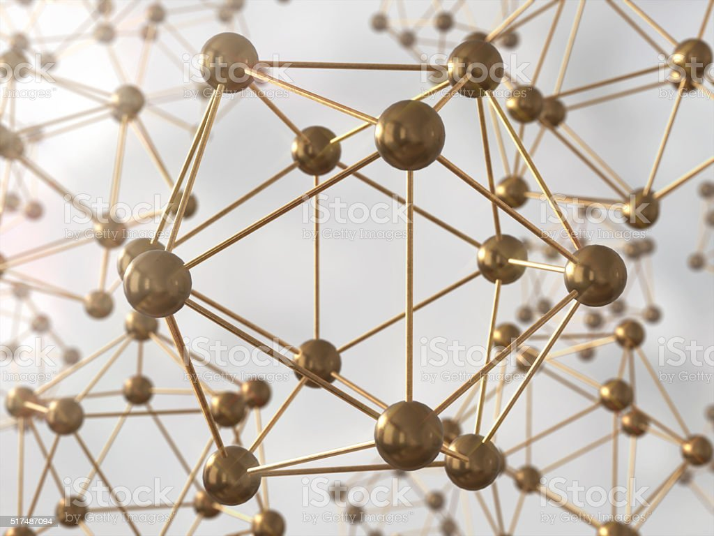 Science Molecule DNA Model Structure, business teamwork concept stock photo