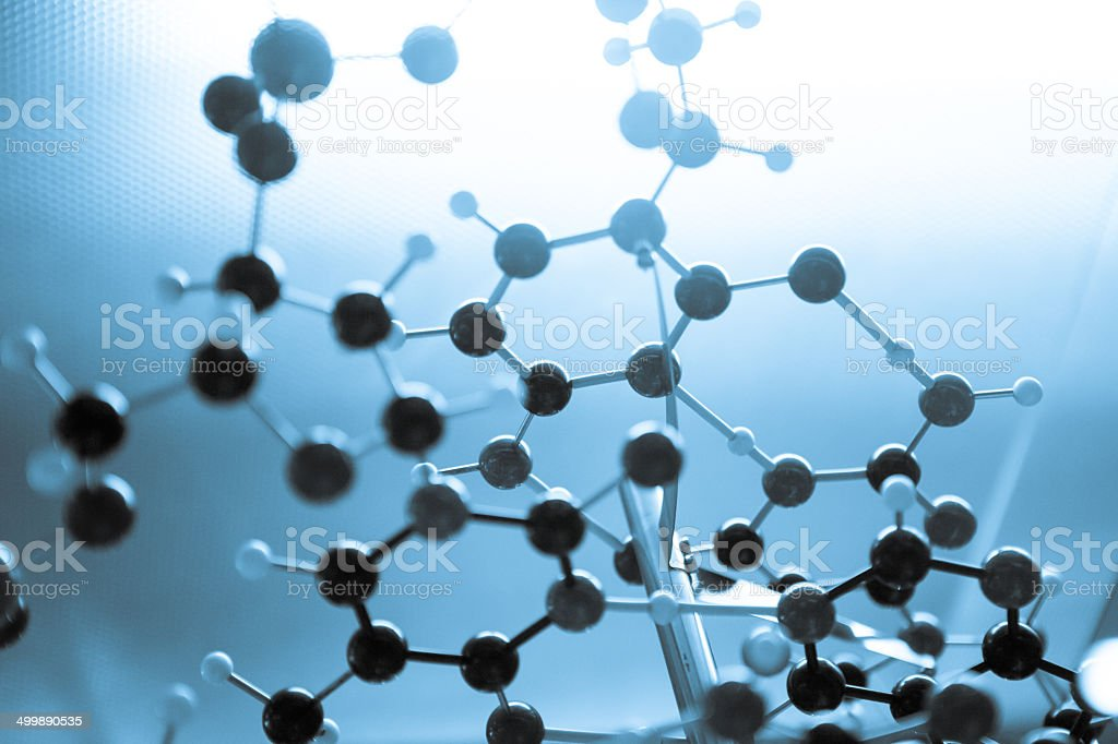Science Molecule DNA Structure, business communication connection concept stock photo