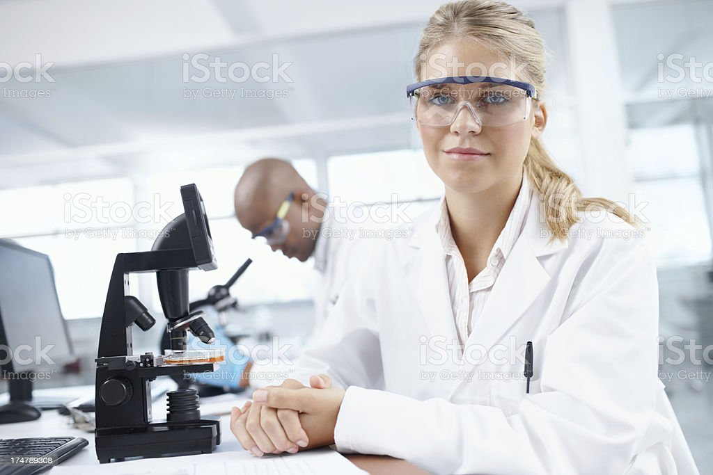 Science never lies royalty-free stock photo