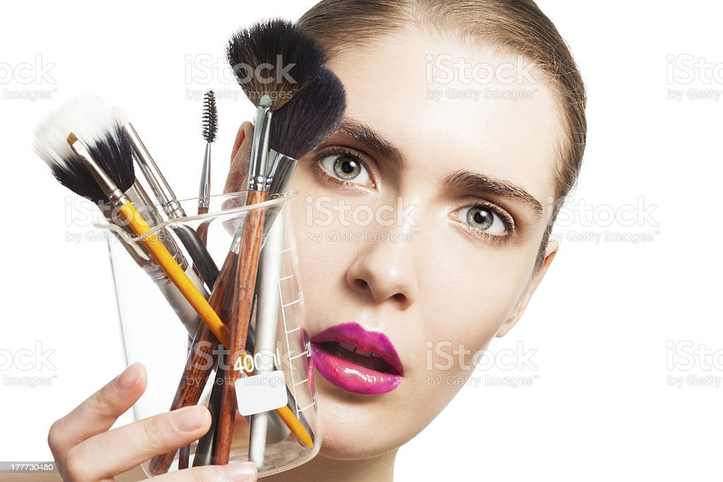 Science of beauty royalty-free stock photo