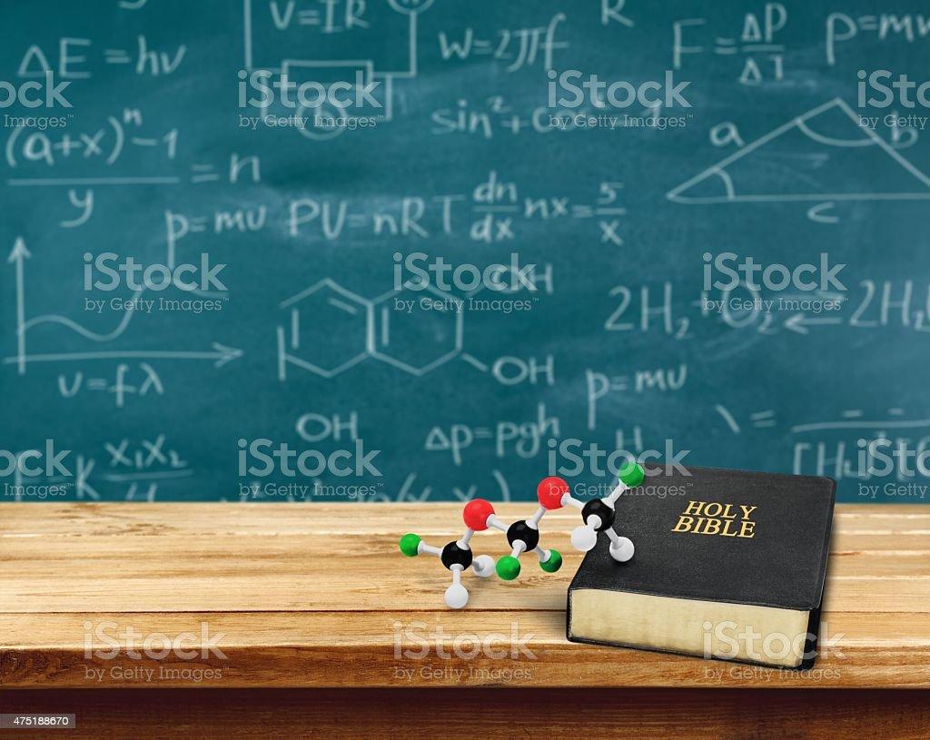 Science, Religion, Evolution stock photo
