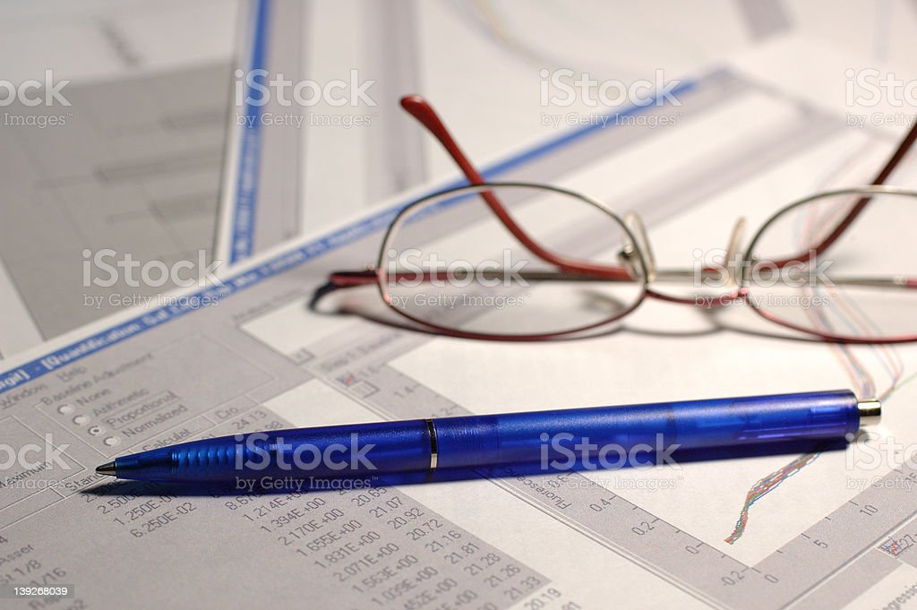 Science reports stock photo