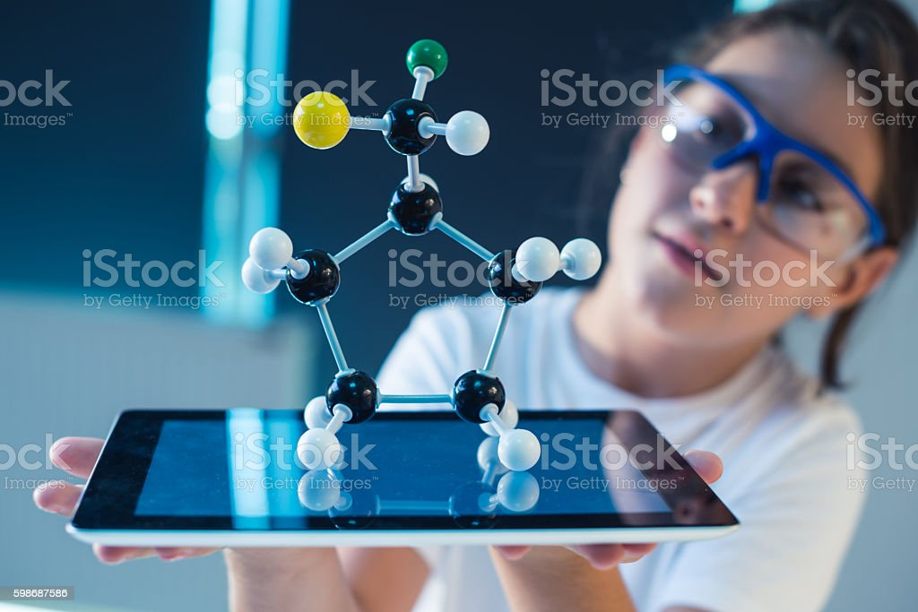 Science research stock photo