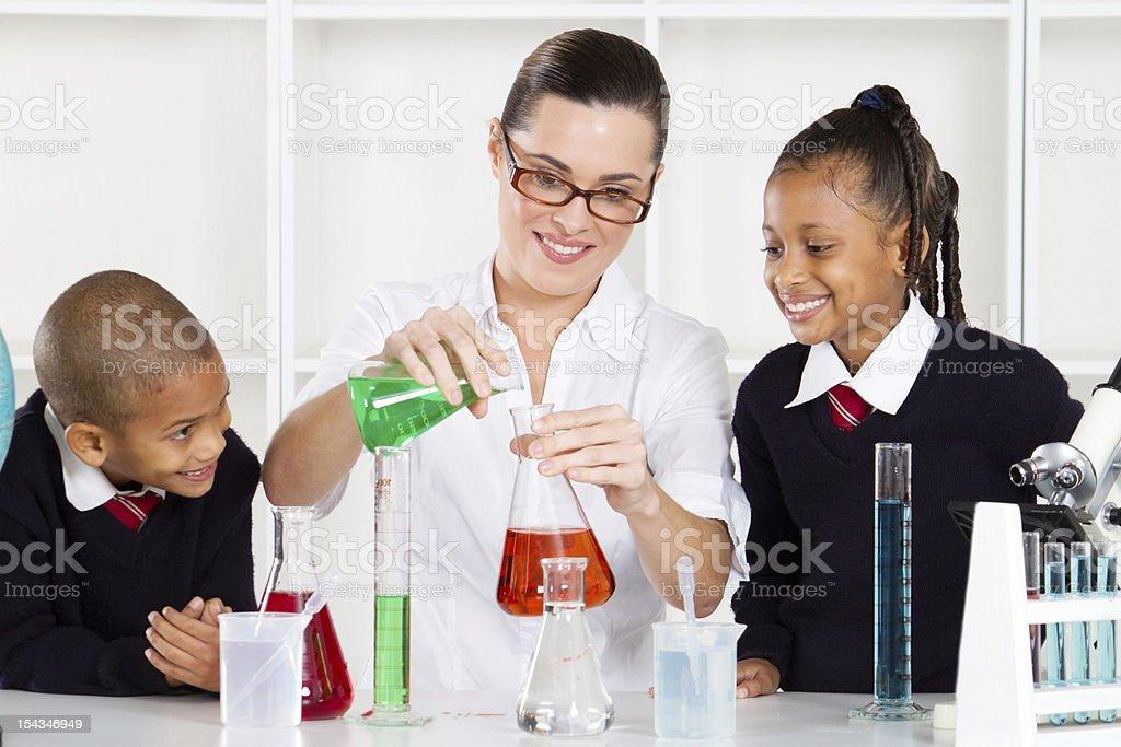 science teacher teaching students royalty-free stock photo