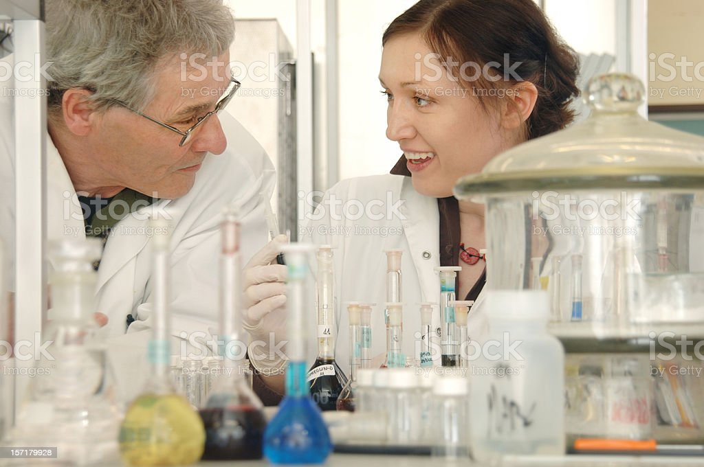 science - working together stock photo