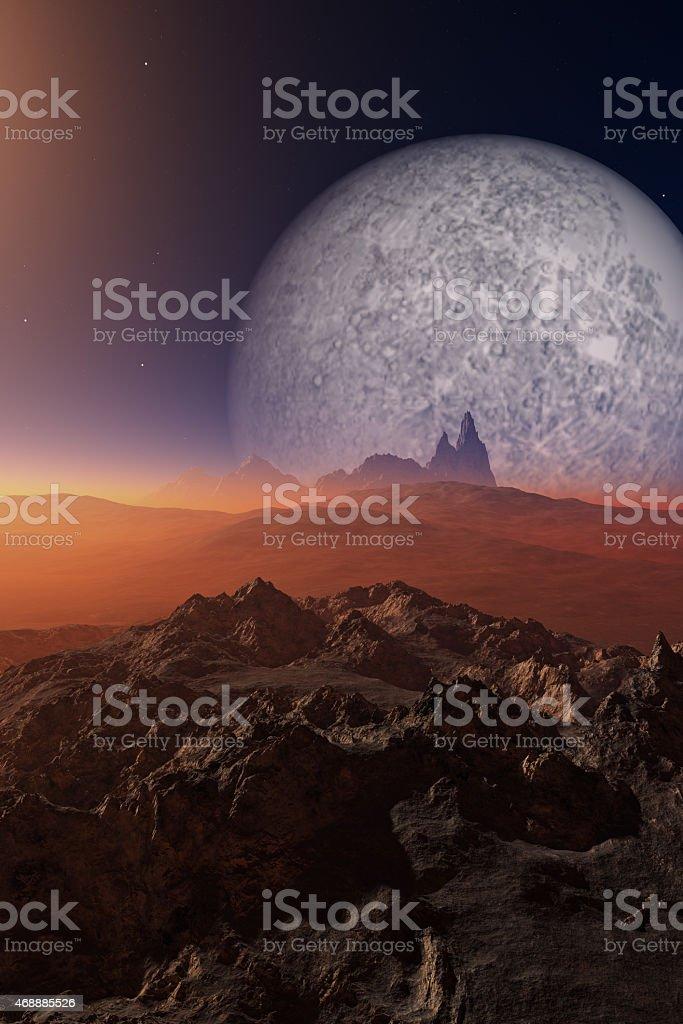 Science-Fiction desert stock photo