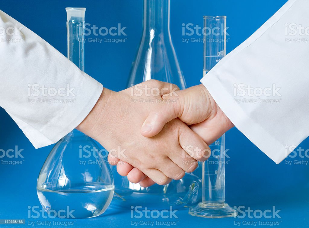 Scientific collaboration royalty-free stock photo