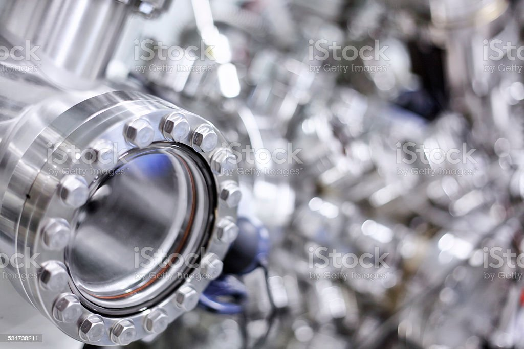 Scientific equipment (load lock chamber) stock photo