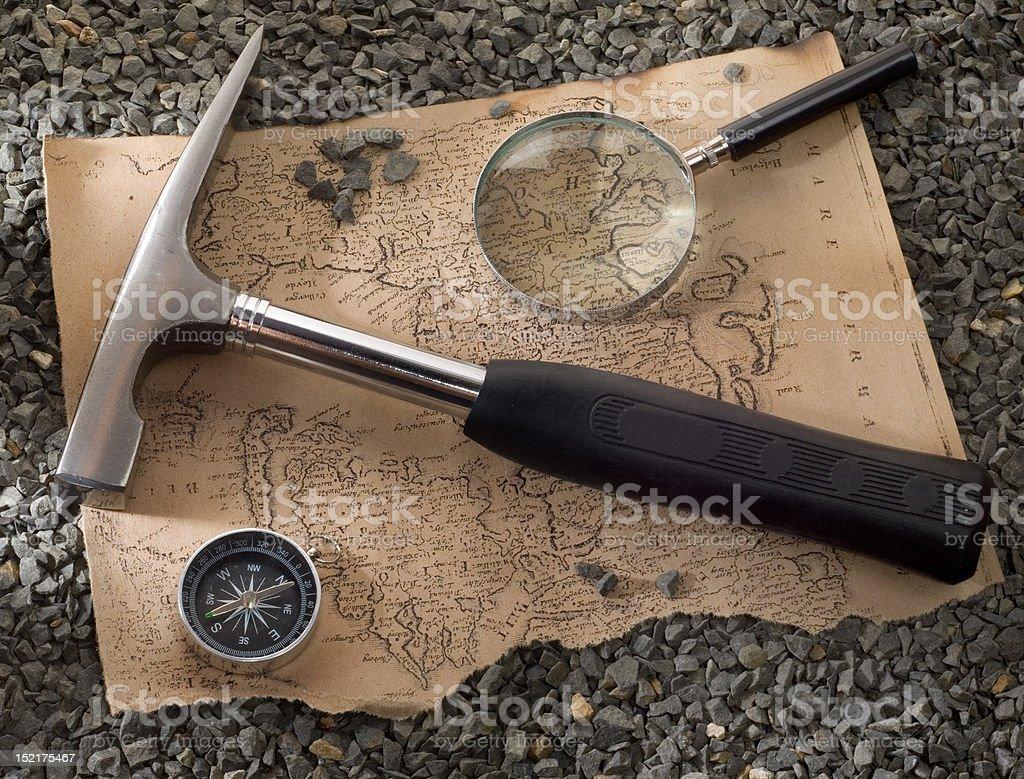 scientific expedition stock photo