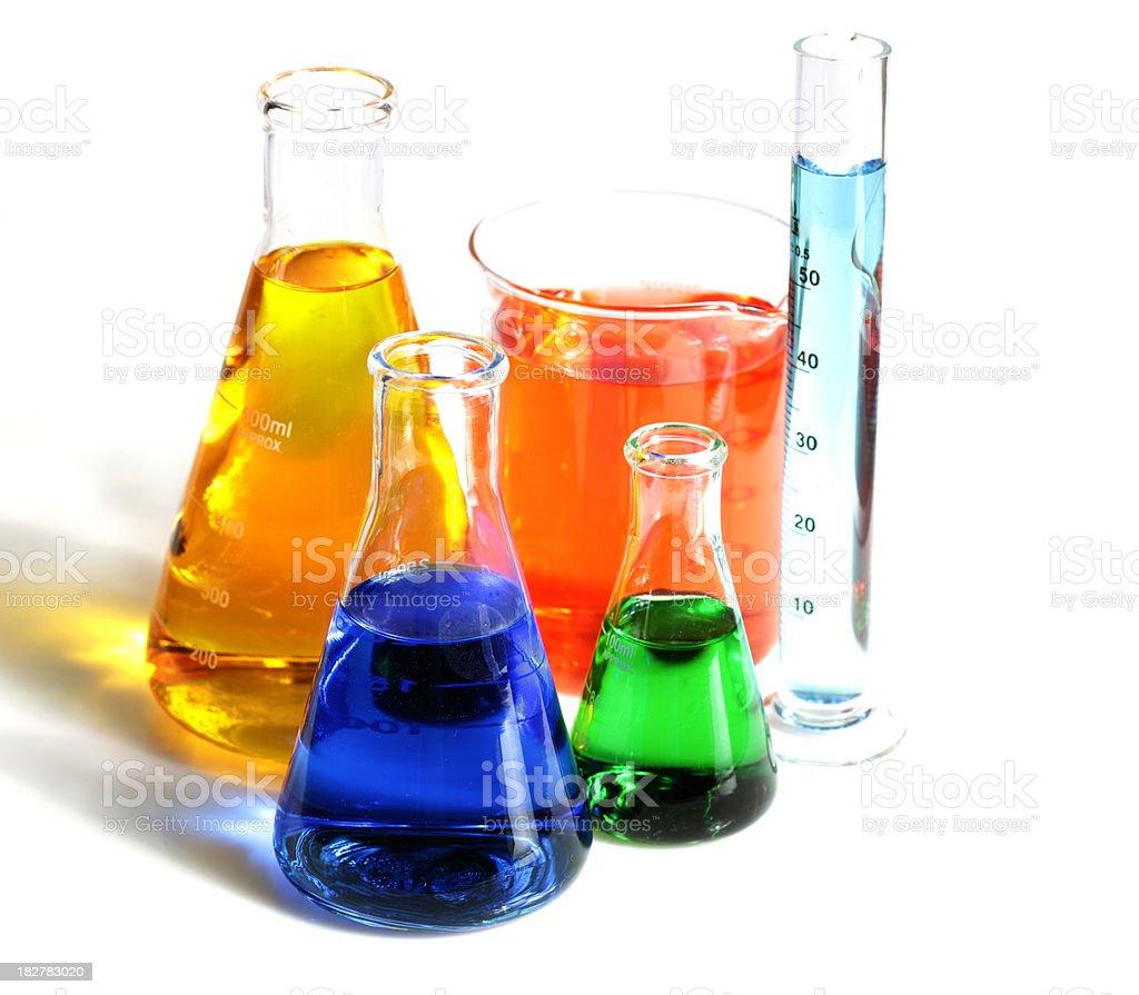 Scientific Glassware royalty-free stock photo