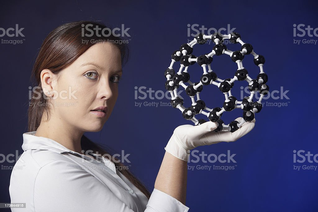 Scientific Nanotechnology Model stock photo