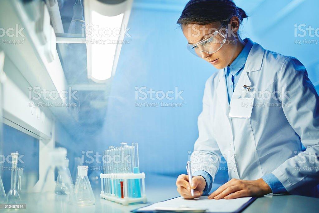 Scientific notes stock photo