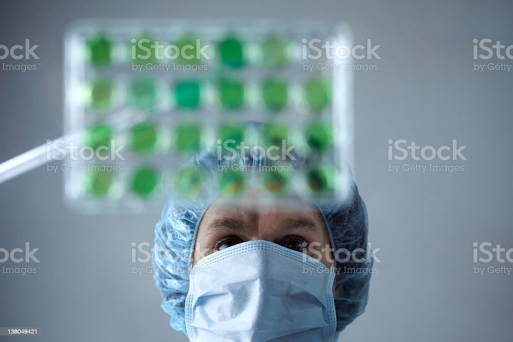 Scientific Research: researcher at the pipette royalty-free stock photo