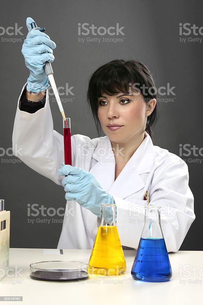 Scientific research test tube science royalty-free stock photo