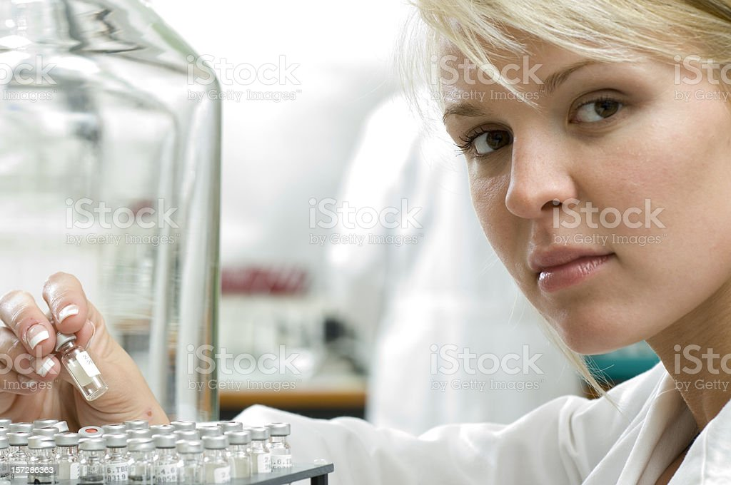 scientist at work in lab royalty-free stock photo