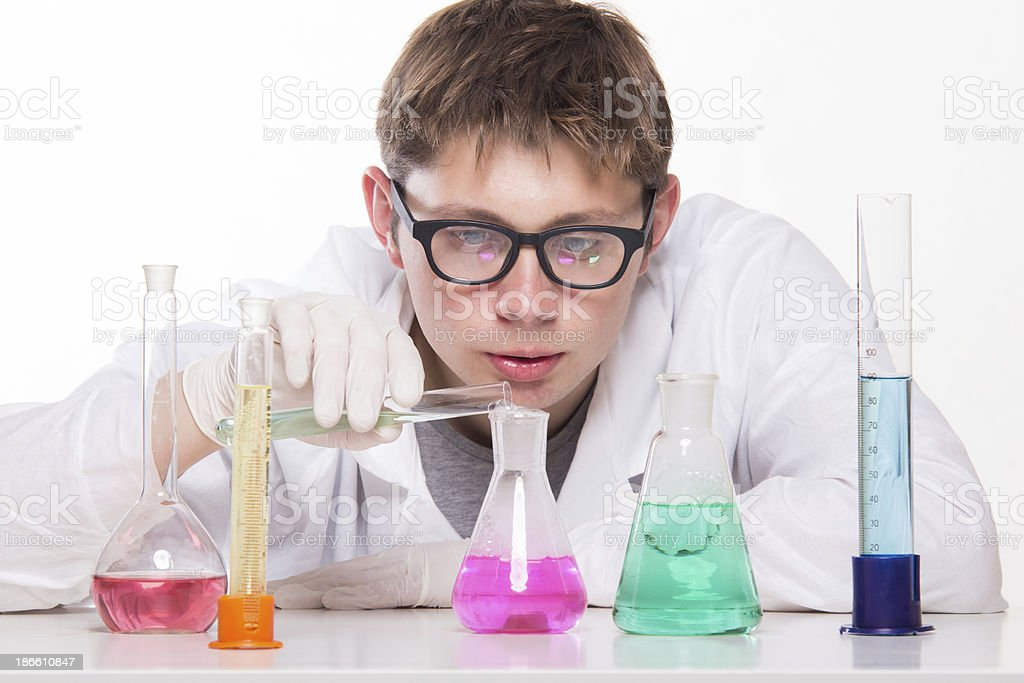 Scientist at Work royalty-free stock photo