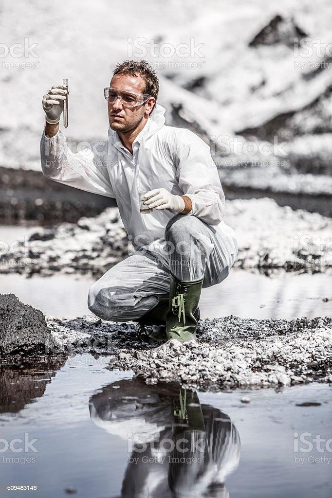 Scientist at work stock photo