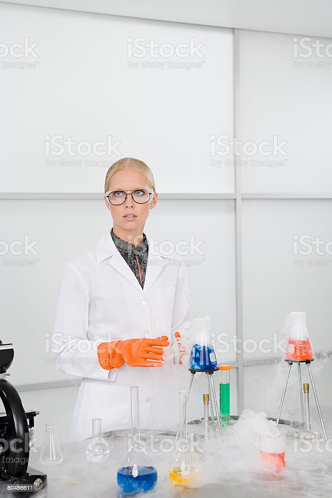 A scientist conducting an experiment royalty-free stock photo