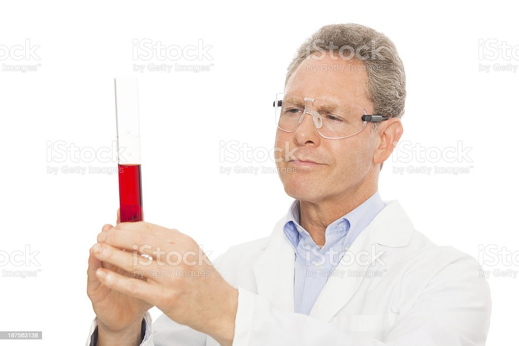Scientist Examining Contents Of Test Tube royalty-free stock photo