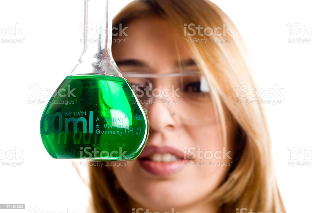 Scientist Experimenting royalty-free stock photo