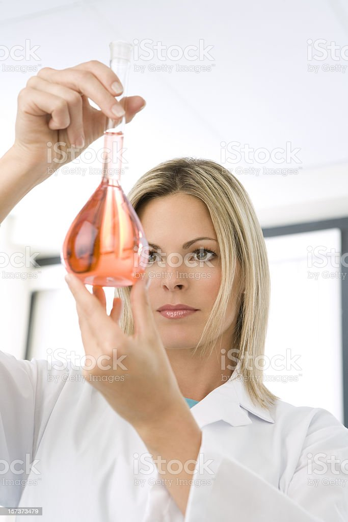 Scientist In A Lab royalty-free stock photo