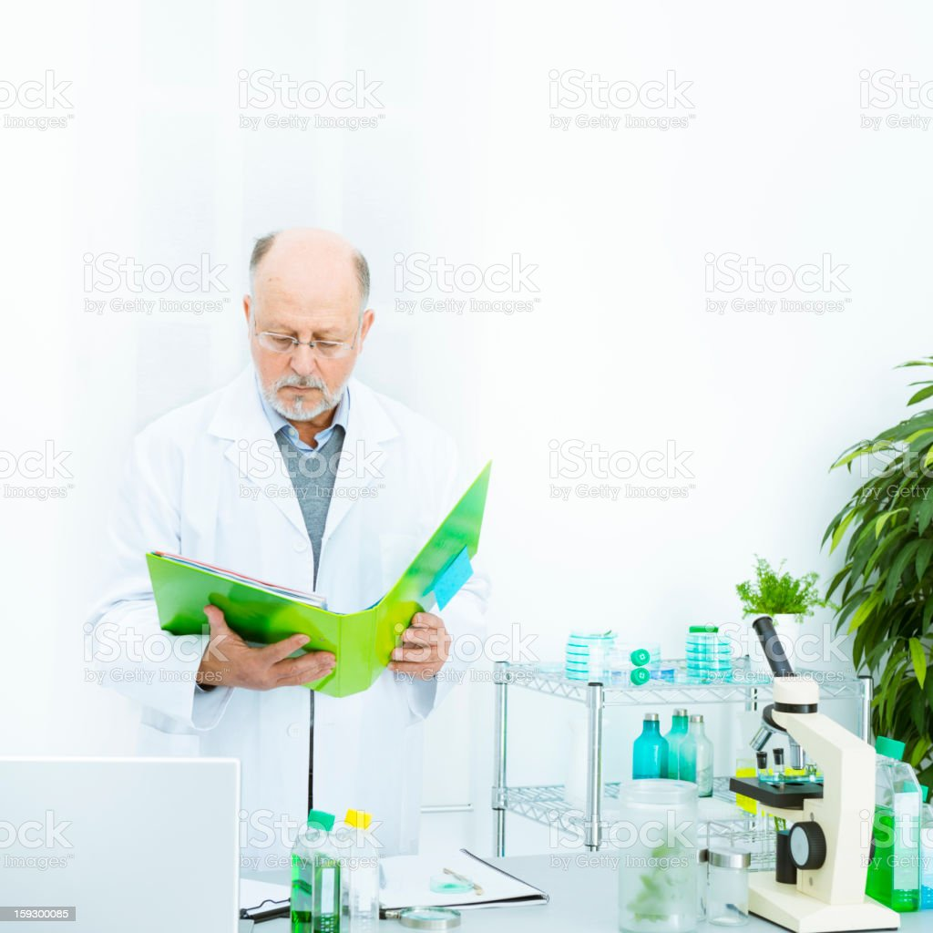 Scientist in a modern laboratory royalty-free stock photo