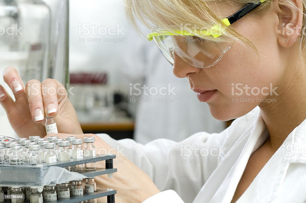 scientist in lab at work royalty-free stock photo