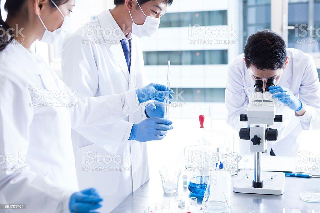 Scientist in lab. stock photo